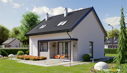 Poschodovy dom s rovnou strechou
